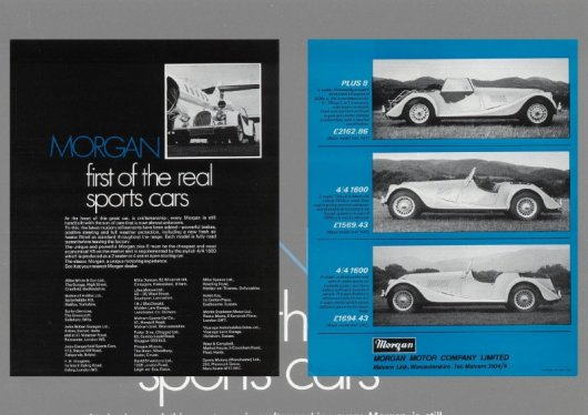 Morgan brochures - British car brochures ( www.car-brochures.eu )